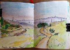 Hacia Hornillos del Camino (Asun Maoso) Tags: santiago del de y camino fina punta entre acuarela dibujos len burgos con