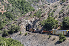 BNSF 4067 East entering tunnel (lennycarl08) Tags: california railroad northerncalifornia train trains ge featherrivercanyon burlingtonnorthernsantafe burlingtonnorthernsantaferailroad gec449w bnsf4067