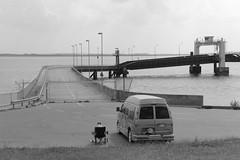 no more ferry anymore (Rasande Tyskar) Tags: chevrolet ferry river waiting van melancholy elbe fähre warten klappstuhl flus ineffablemelancholy