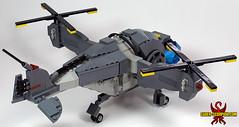 LEGO Fallout Vertibird - back (Saber-Scorpion) Tags: lego fallout enclave moc newvegas fallout2 fallout3 vertibird