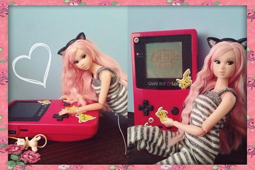 beach angel doll ooak custom pinkhair momoko reroot famaka