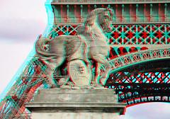 Eiffeltower Paris 3D (wim hoppenbrouwers) Tags: paris 3d eiffeltower anaglyph stereo parijs redcyan