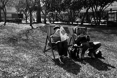 glebe library (Salle-Ann) Tags: street urban bw photography reading library nsw glebe deckchairs streetlocal