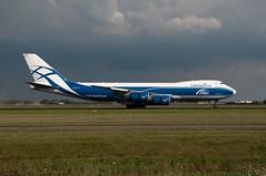 Boeing 747-8HVF  AirBridgeCargo  VQ-BGZ (Den Batter) Tags: nikon abc boeing spl schiphol 747 eham polderbaan 18r36l d5000 airbridgecargo vqbgz 7478hvf