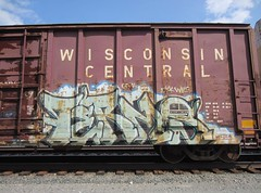 TERMS (YardJock) Tags: railroad graffiti spraypaint boxcar freighttrain rollingstock benching paintedsteel benchreport