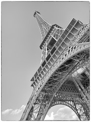 Eiffel Tower [Explored] (AB 7) Tags: blackandwhite france tower eiffel
