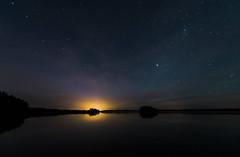 Distant Lights (@Tuomo) Tags: autumn lake night finland stars nikon df jyväskylä päijänne korpilahti 1424mm28