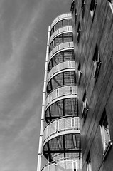 Monochrome Bristol Building (Travels with a dog and a Camera :)) Tags: uk england southwest west macro building art monochrome digital bristol pentax south september ii di if af tamron xr 56 ld lightroom 2014 18200mm k30 f3563 asperical justpentax pentaxart pentaxk30 tamronaf18200mmf3563xrdiiildaspericalifmacro lightroom56