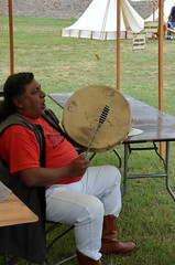 Native American Drum & Music (Adventurer Dustin Holmes) Tags: people man events nativeamerican event drumming performers performer springfieldmissouri 2014 springfieldmo nativeamericanman lakespringfieldpark outdoorfitnessfestival bassprooutdoordays jamesrivermountainmanrendezvous