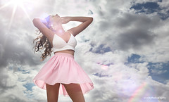 Very swish (pluckphotography) Tags: stella sky clouds model skirt flare swish brunette swishy ghosting