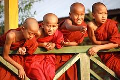 Little monks, Inle Lake, Nyaung Shwe, Myanmar, 2012
