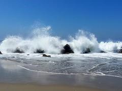 Venice Beach High Surf 4 (Joe Lach) Tags: california water rock sand rocks waves pacificocean venicebeach crashing breakingwaves joelach