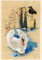 50x70_was Menschen versuchen (heiko ELIAS friedrich) Tags: collage elias grafik heiko friedrich zeichnung realismus gegenstndlich
