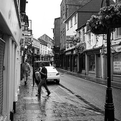 Ennis (Peter Gutierrez) Tags: street city ireland people bw irish white black streets heritage architecture town photo europe clare european centre pedestrian center eire na peter pedestrians gutierrez ennis baile inis europeans bn dubh lr peter cathrach daoine gutierrez ailtireacht sride srideanna coisithe oidhreachta choisithe