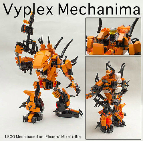Vyplex Mechanima: Entry to Brick Fanatics Mixel Mech Competition.