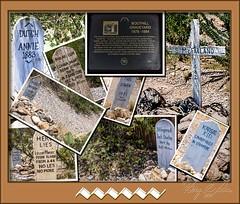 Grave Marker Collage (Sugardxn) Tags: arizona southwest grave graveyard collage photoshop tombstone az historical picswithframes sugardxn garypentin