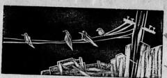 Angustia (bigbangbebop) Tags: pajaro grabado existencialismo xilografía