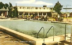 Gibsons Holiday Camp, Bracklesham Bay (trainsandstuff) Tags: vintage postcard retro gibsons southdowns brackleshambay pontins holidaycamp