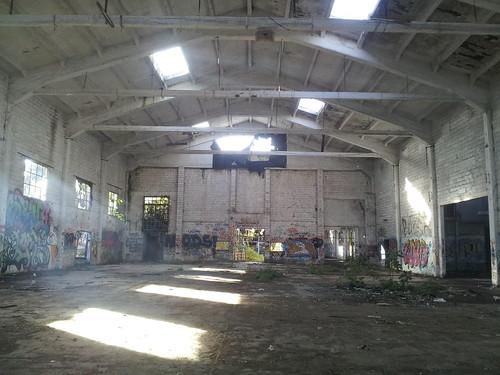 Le salon plutôt grand de notre squat à Bacciano