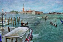 The Boatman. (sidibousaid60) Tags: venice italy water landscape boats italia lagoon textures venezia photoshopcs5