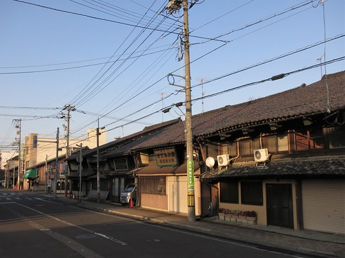 old-style town houses on the former trunk road of Edo period