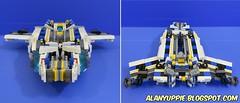 LEGO Triple changer Railrazor (alanyuppie) Tags: lego transformers transform triple changer autobot cybertron bullet train shinkansen space shuttle robot railway railroad rail caboose coach commuting