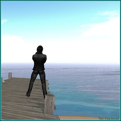 Rverie bleute (Tim Deschanel) Tags: tim deschanel sl second life paysage landscape mer sea ciel sky deram rve rverie