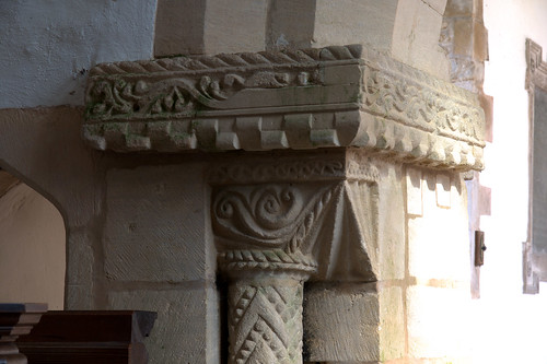 Egleton, Rutland, St. Edmund's, chancel arch, north capital