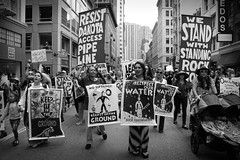 IMG_4492-1 (rawEarth) Tags: nodapl sanfrancisco nodakotaaccesspipeline rally march protest standingrocksioux solidarity climatechange keepitintheground rezpectourwater idlenomore northdakotaresistance lovewaternotoil waterprotectors nofossilfuels blackandwhite