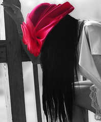 That Red Chapeau (coollessons2004) Tags: krystalsmith woman portrait mystery mysterious red hat chapeau beauty beautiful