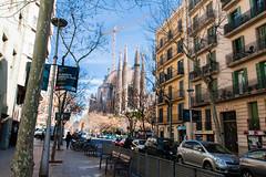 Barcelona (Roger Hanuk) Tags: art artnouveau barcelona belltower cathedral crane gaudi religiousbuilding sagradafamília spain street catalonia