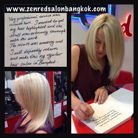 Its always great to read Zenred salon Bangkok Reviews, you will notice we prefer the handwritten salon reviews to the fb or google reviews. There are a few competitor salons that leave fake reviews on our facebook pages every week. But despite this we wil