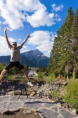 Shane Jump Banff (Shane Kiely) Tags: banff canada lakeminnewanka tunnelmountain vermillionlakes