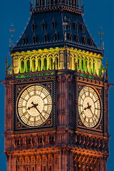 Big Ben 8:23 (Howard Ferrier) Tags: unitedkingdom illuminated england london night tower historicalbuildings time bigben architecture clock europe objects dusk