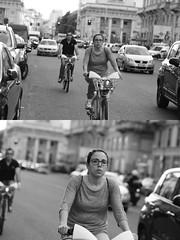 [La Mia Citt][Pedala] con il BikeMi (Urca) Tags: milano italia 2016 bicicletta pedalare ciclista ritrattostradale portrait dittico nikondigitale mir bike bicycle biancoenero blackandwhite bn bw 895105