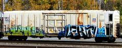 ICH - lekt (timetomakethepasta) Tags: ich ichabod yme 63 jurne twigs learn pi freight train graffiti art armn reefer union pacific rusted new york selkirk