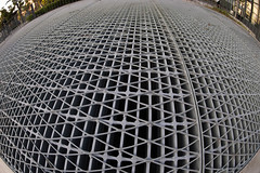 Metal grating (nak.viognier) Tags: metalgrating nakanoshima osaka 竹格子 中之島 olympusepl3 lumixgfisheye8mmf35