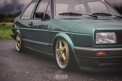 VW JETTA MK2 (JAYJOE.MEDIA) Tags: vw jetta mk2 volkswagen low lower lowered lowlife stance stanced bagged airride static salmmed wheelwhore oz ozwheels ozgang ozmito