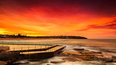 Red Sky Over Curl Curl (Simon Pratley) Tags: australia beach canon clouds coast costa curlcurl dusk evening lacosta landscape leefilters longexposure northernbeaches nubes ocean outdoor picina playa pool reflections rocks seascape sky sunset surf sydney urbanscape water wave waves