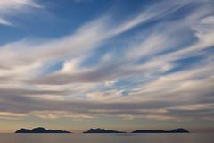 Siccae islands (A.Gonzlez) Tags: isla islas islands islasces islascies illascies vigo pontevedra espaa spain landscape seascape paisaje azul blue nube nubes cloud clouds cloudy nuboso puestadesol sunset tranquilidad calm