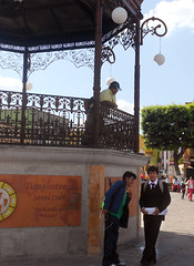 Metepec (Cath Forrest) Tags: metepec toluca mexico bandstand square man schoolboys
