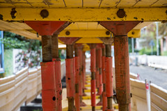 civil engineering (Rasande Tyskar) Tags: baustelle civil engineering bau strase road work color colours farben orange altona altstadt hamburg germany pfeiler tiefbau