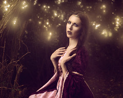 Golden Light (Logan Fox) Tags: fineartphotography fantasy woman light forest sitting portrait medieval 50mm carl zeiss canon