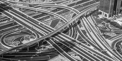 Roads and lines (Robert Haandrikman) Tags: blue building roads highway burj khalifa dubai highways lanes lines cars blak white nice structure