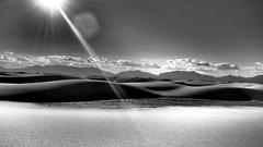 White Sand Dunes. NM. (Phoebus58) Tags: blackwhite usa newmexico nouveaumexique dune desert whitesanddunes soleil sun light ray olympus