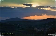 Tramonto di Dicembre a Cianciana. -  2016 (agostinodascoli) Tags: travel tramonto turismo nikon nikkor nature landscape paesaggi cianciana sicilia sunset agostinodascoli cielo