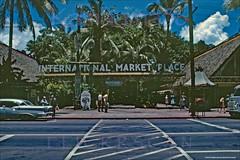 Old International Market Place 1961 (Kamaaina56) Tags: 1960s waikiki hawaii streetview slide internationalmarketplace donthebeachcombers oldsmobile