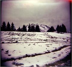 ^^^   ^^^ ^^ (Ulla M.) Tags: schnee berge rosfeldpanoramastrase rosfeldstrase canoscan8800f tetenalcolortec selfdeveloped selbstentwickelt holga 6x6 toycamera toycam lightleaks snow mountains mittelformat analog expiredfilm umphotoart lomo freihand analogue film filmschooter analogphotography filmphotography