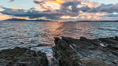 Elgol to Rhum (Karen Burgoyne) Tags: skyefall16 elgol skye isleofskye november autumn rhum sunset scotland