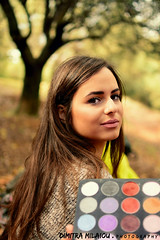 backstage... (dimitra_milaiou) Tags: portrait beauty beautiful greek female woman dimitra face make up makeup color colour girl light day nature photo photography nice shot smile happy happiness natural spot tree bokeh nikon d d7100 7100 long hair chroni model greece hellas athens walking shooting milaiou cosmetics backstage saturday sunday go out 35mm f18